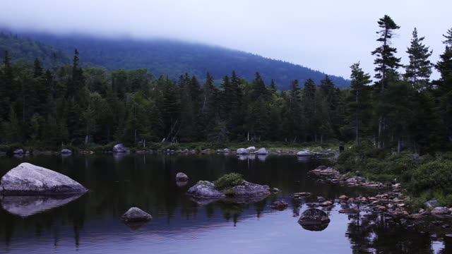 wide, scenic penobscot river in maine - wide stock videos & royalty-free footage