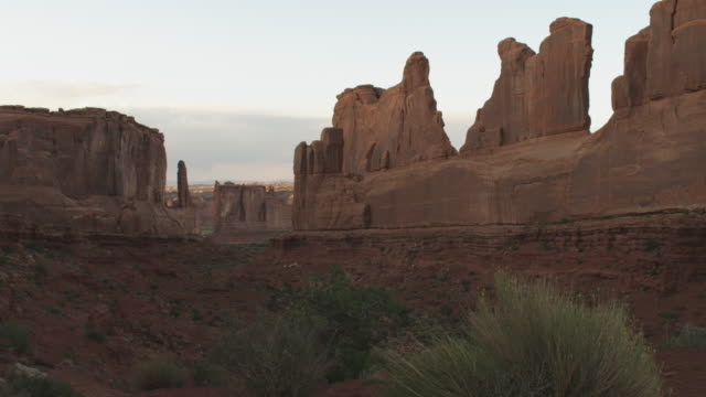 wide, scenic rock faces in utah - rock face stock videos and b-roll footage
