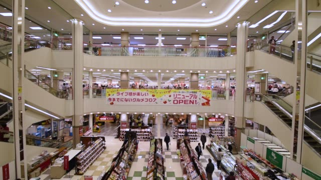 Wide shot a supermarket is seen inside Ito Yokado Co Ario shopping center owned by Seven i Holdings Co during its reopening in Tokyo Japan on Friday...