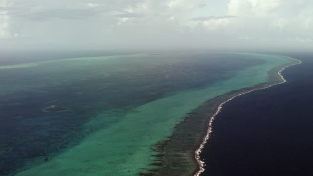 Wide Shot Aerial Of Lighthouse Reef