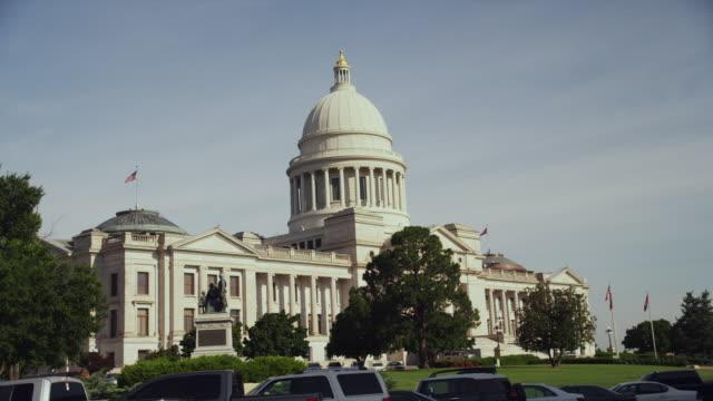 Wide shot Arkansas State Capitol Building