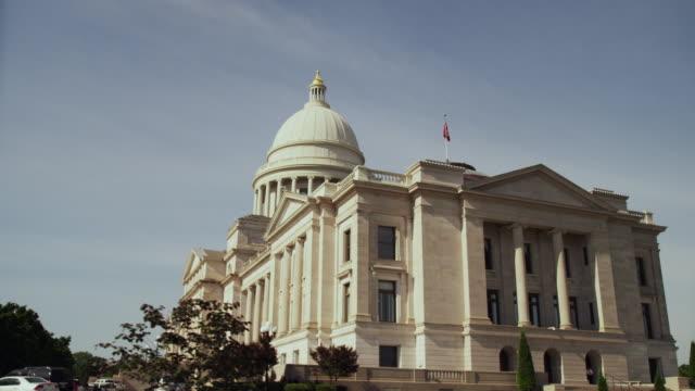 wide shot arkansas state capitol building - arkansas stock videos & royalty-free footage