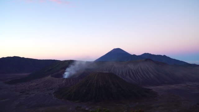 4k wide shot, beautiful of mt.bromo, indonesia in the morning. - wide stock videos and b-roll footage