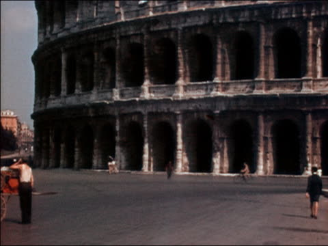 1938 wide shot Coliseum ruins / Rome, Italy