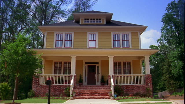 wide shot exterior of house - veranda stock videos & royalty-free footage