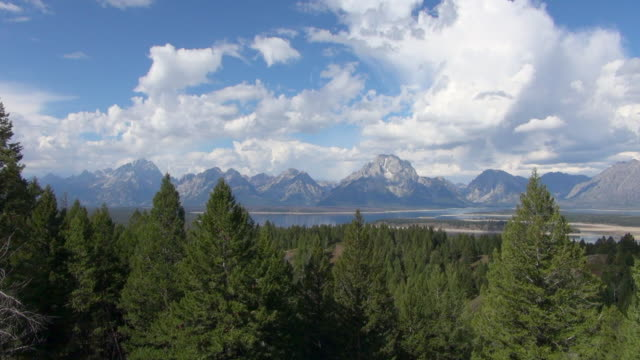Wide Shot from Mountain of Grand Teton National Park