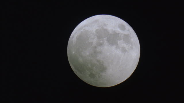 Wide Shot, Full moon in sky at night