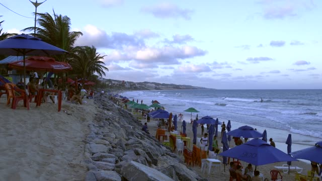 Wide Shot general views from a beach in Natal Brazil shot on December 8th 2014 Natal is located on the northeastern coast of Brazil It is the capital...