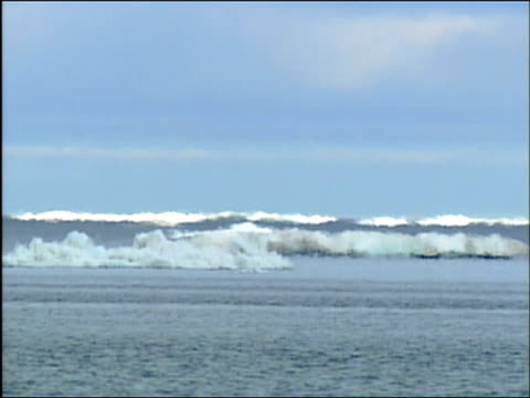 wide shot heat haze emanating from icebergs in arctic ocean / alaska - arctic national wildlife refuge stock videos & royalty-free footage