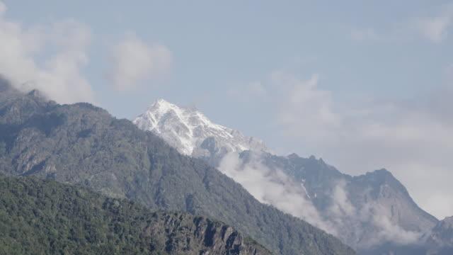 Wide shot, Himalayas Annapurna mountains