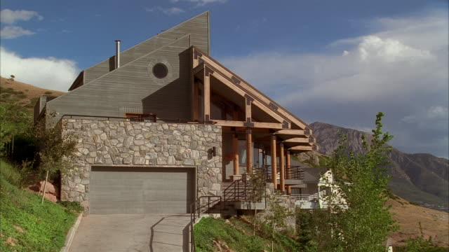 wide shot house in mountains - 1995 stock videos & royalty-free footage
