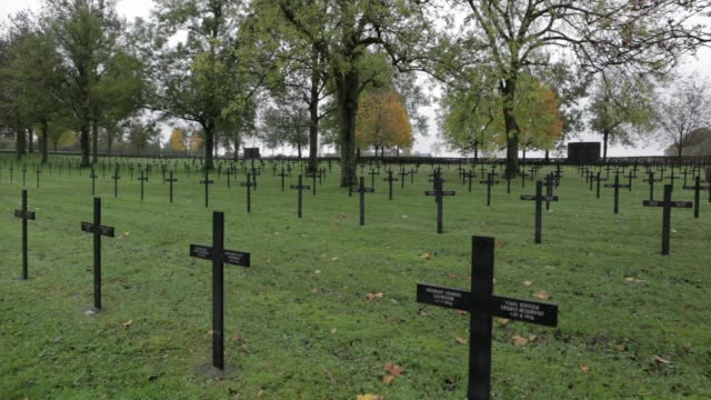 Wide Shot Jewish graves at Fricourt German Military CemeteryThe German military cemetery is the resting place for 17027 German First World War...