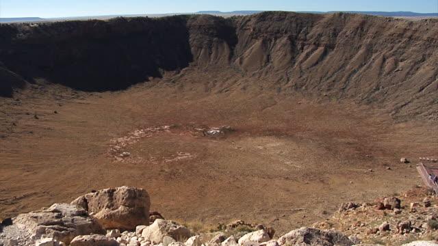 Wide shot meteor crater