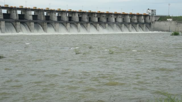 wide shot of a hydroelectric dam, maharashtra, india. - hydroelectric power stock videos & royalty-free footage