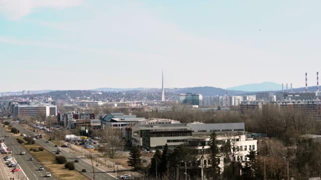 Breite Schuss Belgrad Skyline