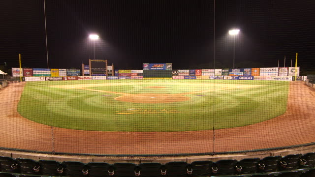 Wide shot of Bethpage Ballpark home to the Long Island Ducks baseball team NY