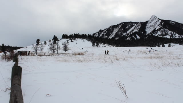 Wide shot of Chautauqua Park