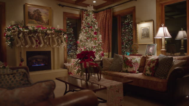 """""""wide shot of christmas decor in house / cedar hills, utah, united states"""" - christianity stock videos and b-roll footage"""