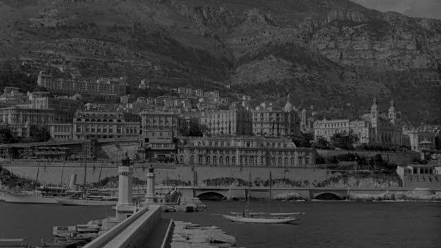 wide shot of clifftop villas facing bay in naples, italy - 1936 stock videos & royalty-free footage