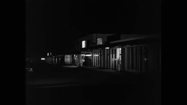 wide shot of empty street at night, saugus, santa clarita, california, usa - santa clarita stock videos & royalty-free footage