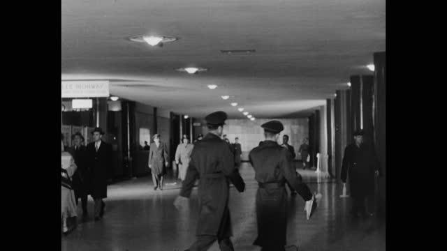 wide shot of men and women walking through pentagon station, pentagon, alexandria, virginia - arlington virginia stock videos & royalty-free footage