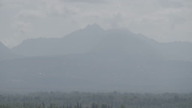 Wide shot of mountains