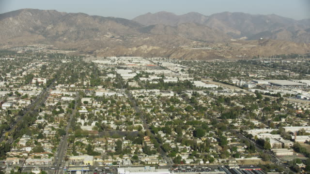 wide shot of pacoima with mountains in the background - angeles national forest stock videos and b-roll footage