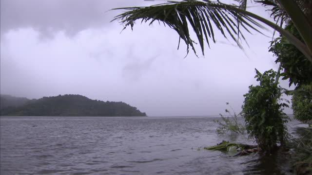 Wide shot of Papua New Guinea's Sepik River