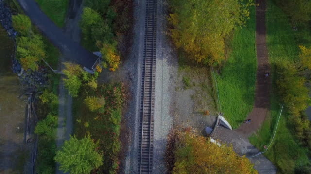 wide shot of railroad tracks running through anchorage - anchorage alaska stock videos and b-roll footage