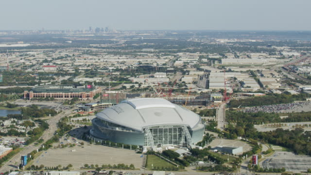 wide shot of the at&t stadium - car park stock videos & royalty-free footage