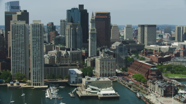 wide shot of the custom house tower - custom house tower stock videos & royalty-free footage