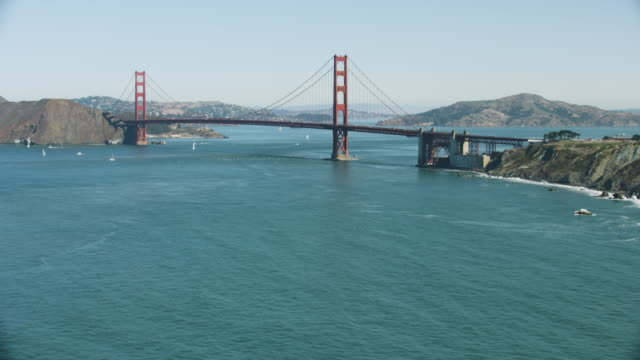 wide shot of the golden gate bridge - san francisco bay stock videos & royalty-free footage