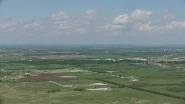 wide shot of the landscape at the haslet area - plain stock videos & royalty-free footage