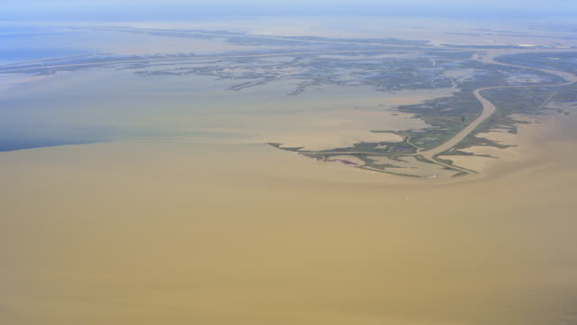 wide shot of the mississippi delta and the gulf of mexico - louisiana stock videos & royalty-free footage
