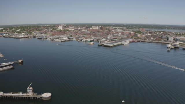 wide shot of the old port of portland - north atlantic ocean stock videos & royalty-free footage