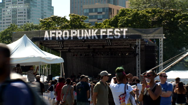 wide shot of the state at the afropunk fest in brooklyn august 24-25 - レゲエ点の映像素材/bロール