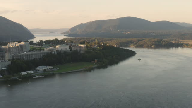 wide shot of the west point academy at sunset - west point new york stock videos & royalty-free footage