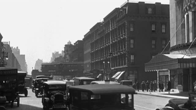 wide shot of traffic moving past the ziegfeld theatre on 6th avenue and 54th street , new york city, new york state, usa - 1928 stock videos & royalty-free footage