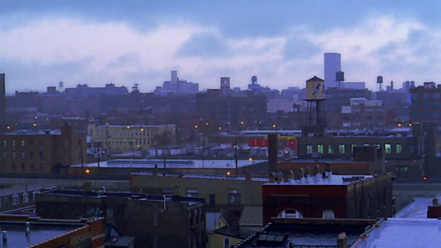 wide shot pan chicago in winter - 2000 stock videos & royalty-free footage