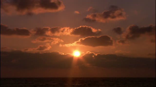 wide shot sunset over water/ israel - 1 minute or greater stock videos & royalty-free footage