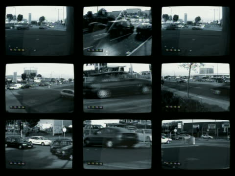 wide shot surveillance cam footage frames of traffic on roads - europe stock videos & royalty-free footage