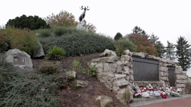 vidéos et rushes de wide shot, the newfoundland memorial park is a site on the somme battlefield near to beaumont hamel which was named after the royal newfoundland... - infanterie