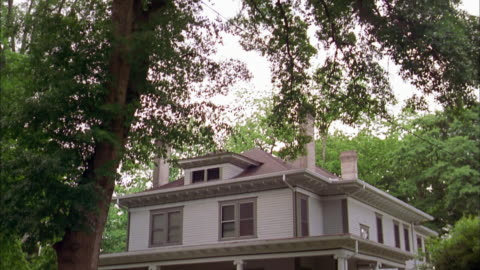 wide shot tilt down exterior of house - tilt down stock videos & royalty-free footage