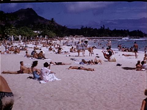 Sunbathing On Waikiki Beach Honolulu