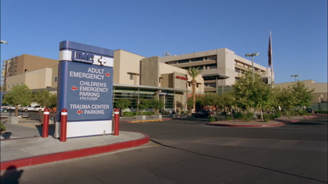 wide shot university medical center/ las vegas, nevada - entrance sign stock videos & royalty-free footage