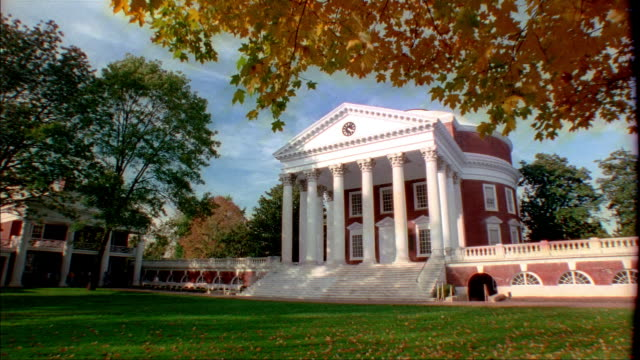 wide shot university of virginia college of arts and sciences/ charlottesville, virginia - university of virginia stock videos & royalty-free footage