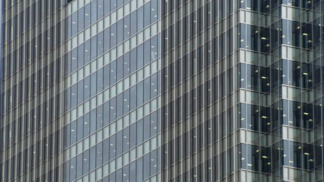 wide shot windows and detail of office building/ london - two dimensional shape stock videos and b-roll footage