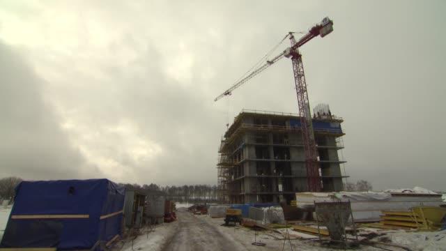skolkovo innovation centre construction work - russia stock videos & royalty-free footage