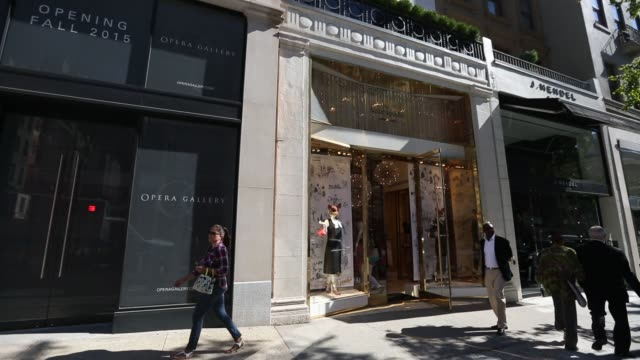 Wide shots of a Dolce Gabbana store location on Madison Avenue in Manhattan New York New York shot on September 23rd 2015 Shots Wide shots pan to...