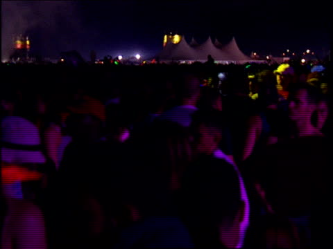 wide shots of crowds at the rave - 1999 stock videos & royalty-free footage